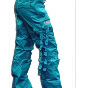 UFO Turquoise Hipster Pants